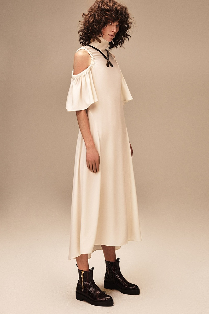 Ellery Deity cut-out shoulder dress