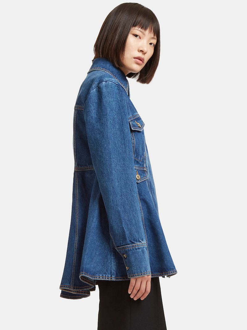 Ellery Pro Protest Peplum Denim Jacket