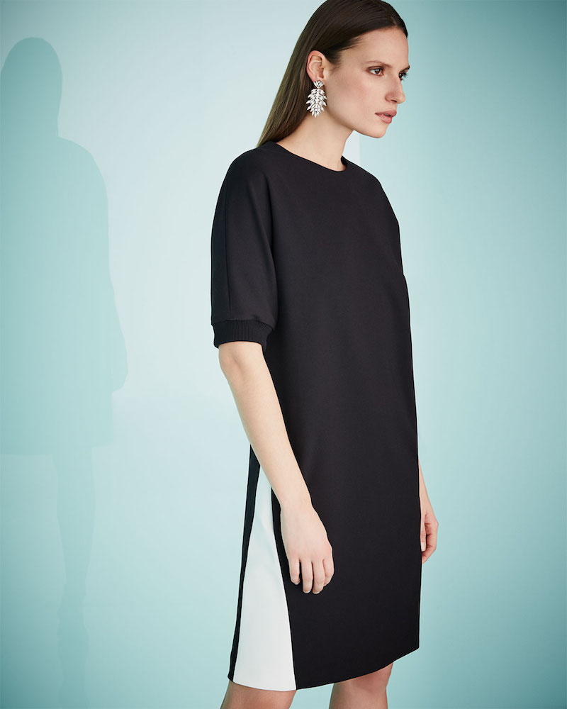 Escada Half-Sleeve Sweatshirt Dress