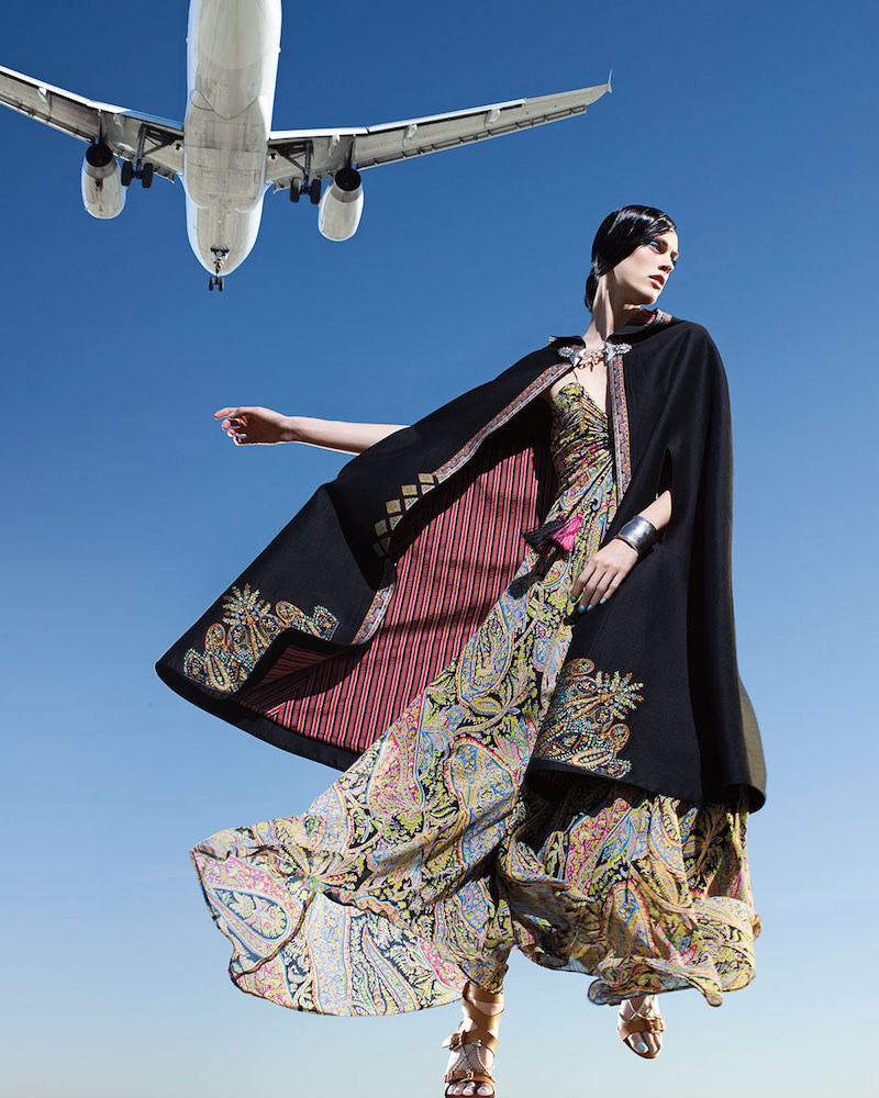 Etro Tangerin Embroidered Hooded Cape