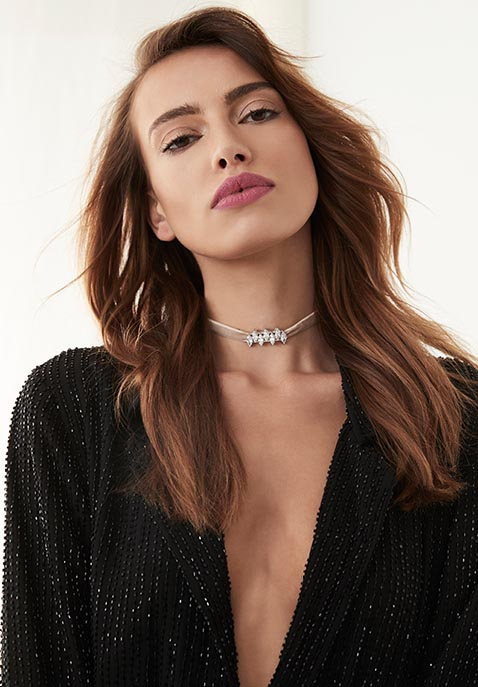 Fallon Monarch Mini Velvet Choker