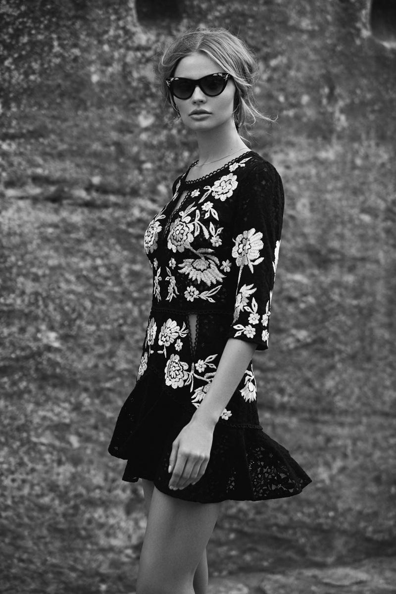 For Love & Lemons  Mallorca Embroidery Dress