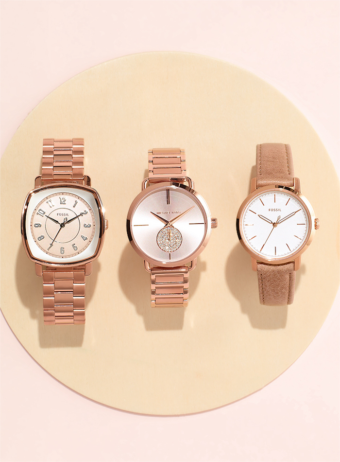 Fossil ES4195 Idealist Three-Hand Rose Gold-Tone Stainless Steel Watch