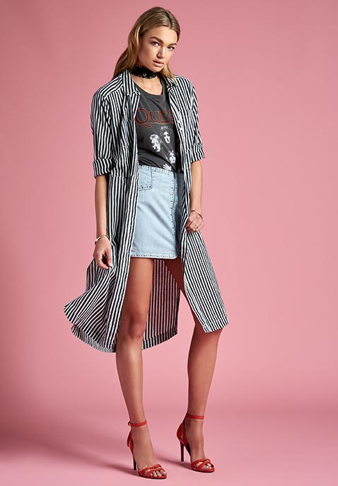Free People Faded in the Morning Button Down Dress