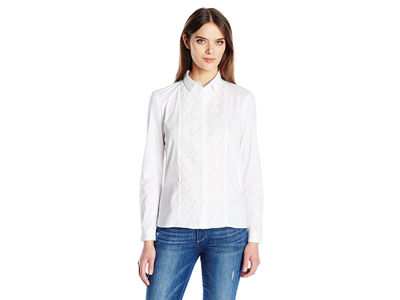 French Connection Hennessy Cotton Button Down Top