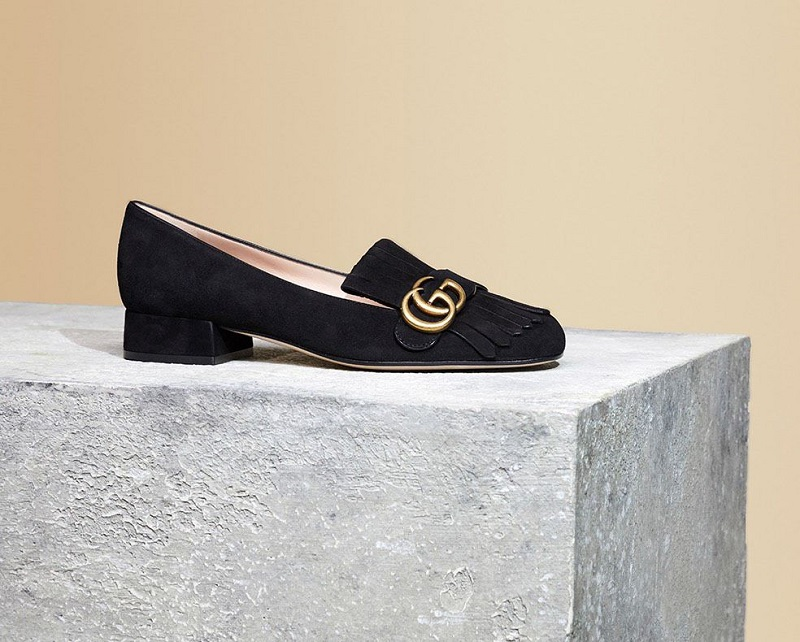 Gucci Marmont suede loafers