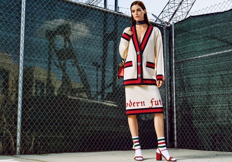Gucci Sylvie mini chain-embellished leather shoulder bag