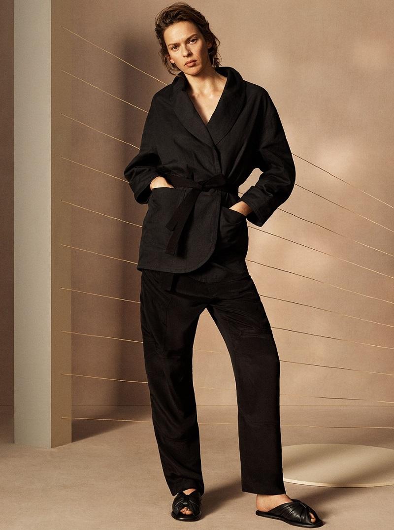 Isabel Marant Étoile Ilona tie-waist cotton and linen-blend coat