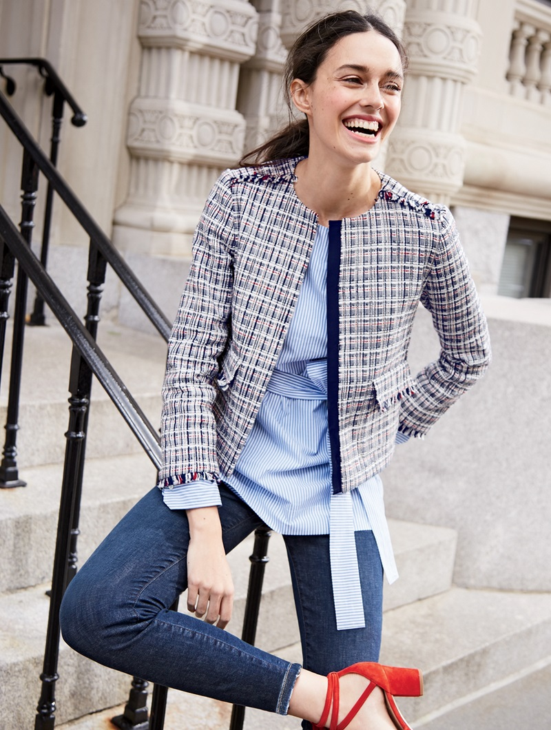 J.Crew Jacket in lightweight tweed