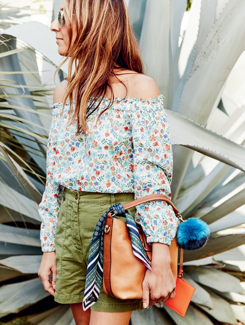 J.Crew Off-The-Shoulder Top in Liberty Edenham Floral