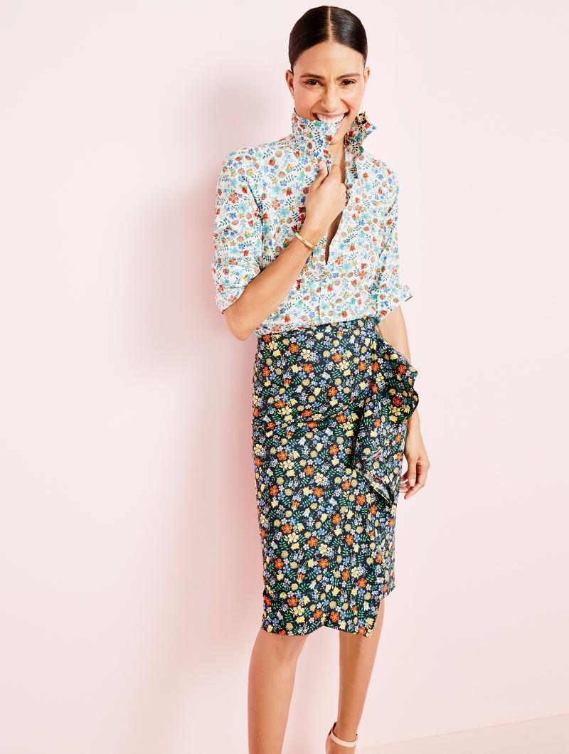 J.Crew Ruffle Skirt in Liberty Edenham Floral