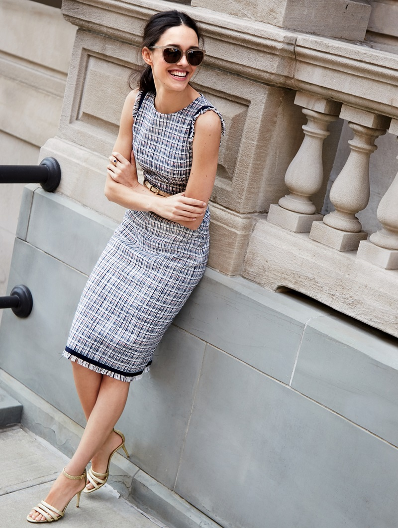 J.Crew Sheath dress in lightweight tweed