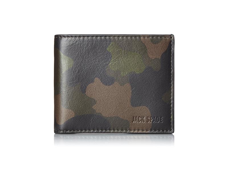 Jack Spade Camo Leather Slim Billfold