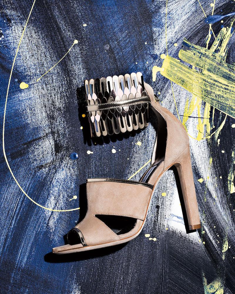 Jimmy Choo Klara Suede Ankle-Wrap 110mm Sandal