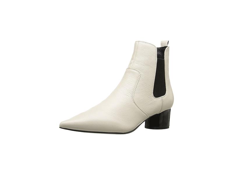 KENDALL + KYLIE Logan White Multi Milled Nappa/Elastic Shoe