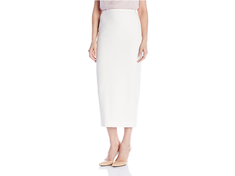 Kasper Stretch Crepe Column Skirt