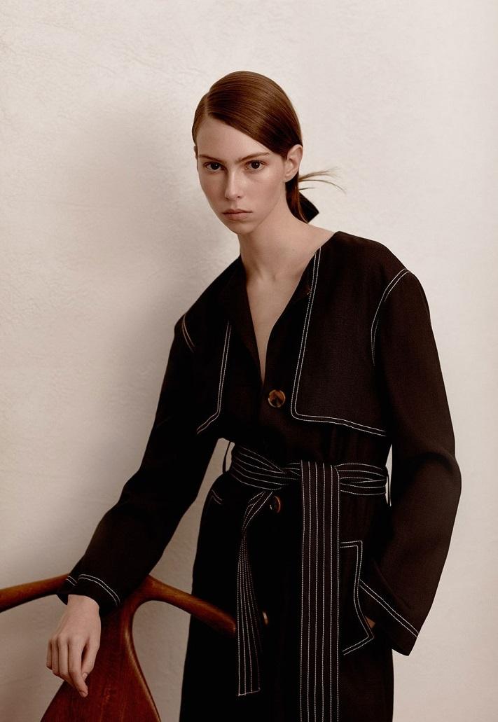 Khaite Isadora trench coat