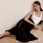 Khaite Marion crepe-back satin midi skirt