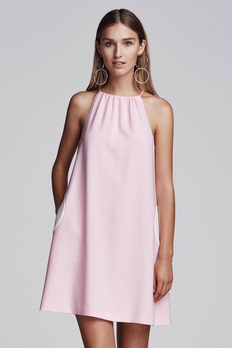 Lisa Perry Circle Crepe Shift Dress