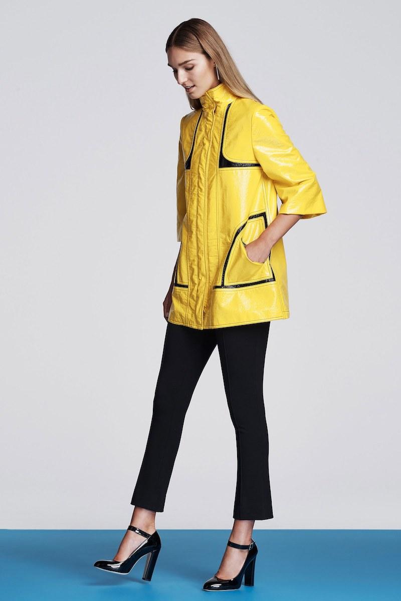 Lisa Perry Cotton-Blend Vinyl Raincoat
