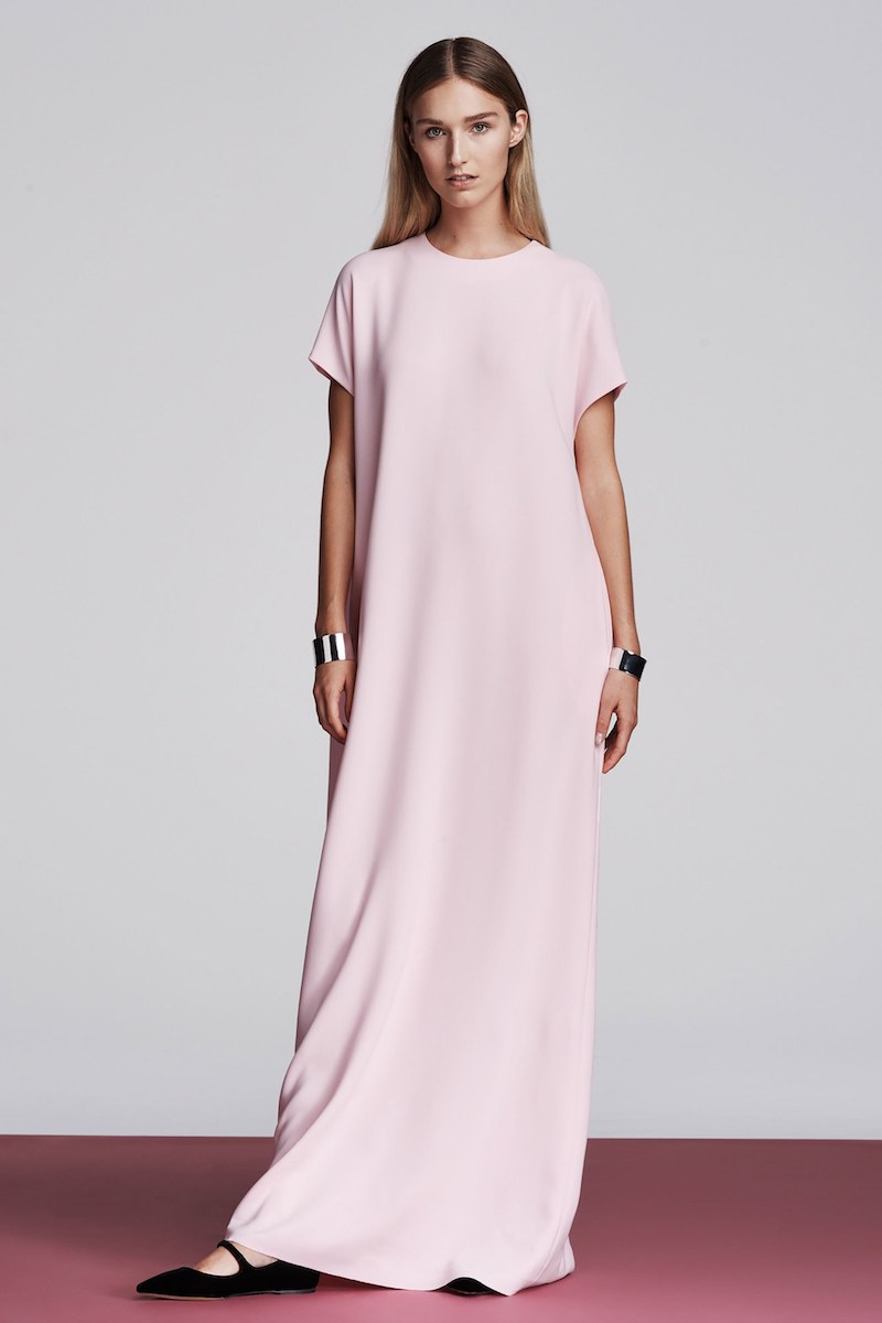 Lisa Perry Crepe Column Gown