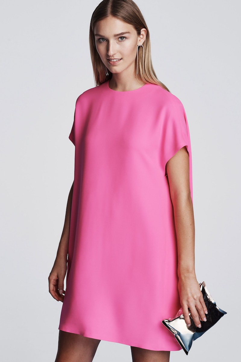 Lisa Perry Flyaway Silk Georgette Shift Dress