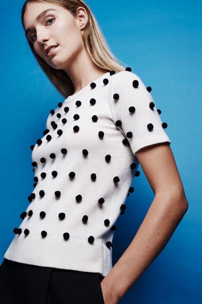 Lisa Perry Pom-Pom Cashmere Sweater