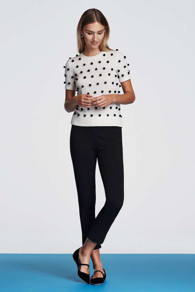 Lisa Perry Ponte-Knit Crop Trousers