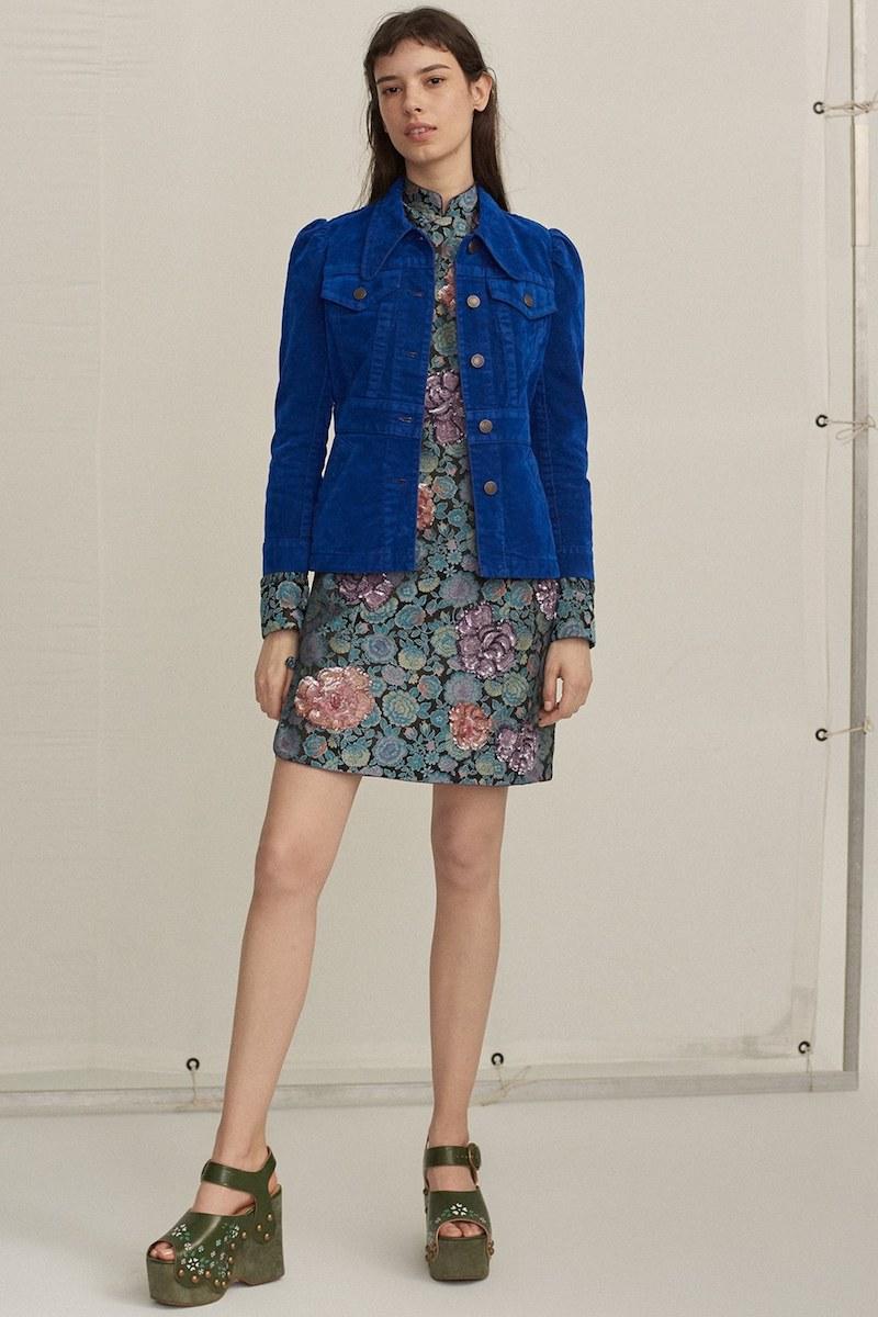 MARC JACOBS Embellished Rose Jacquard Dress
