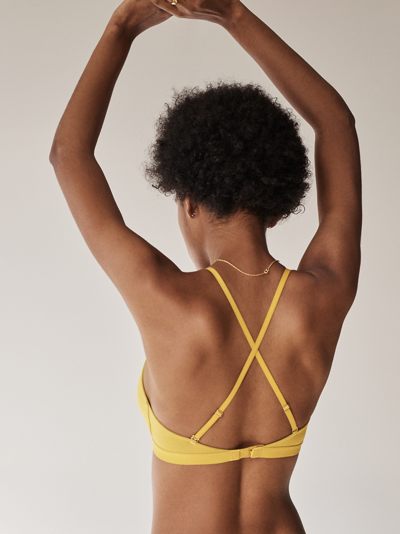 Madewell Cotton-Modal Eliza Cutout Bralette
