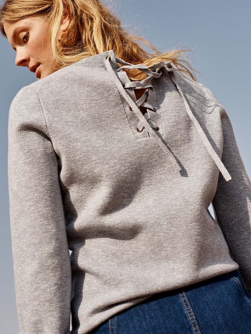 Madewell Laced-Back Pullover Sweater