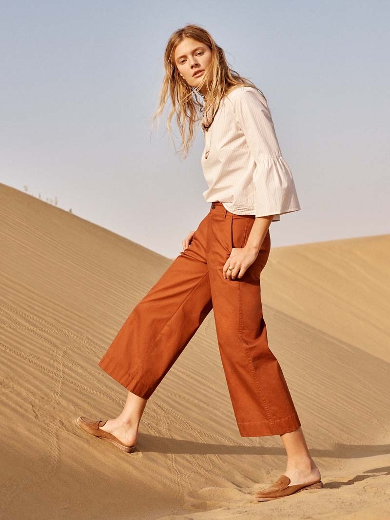 Madewell Langford Wide-Leg Crop Pants Pintuck Edition