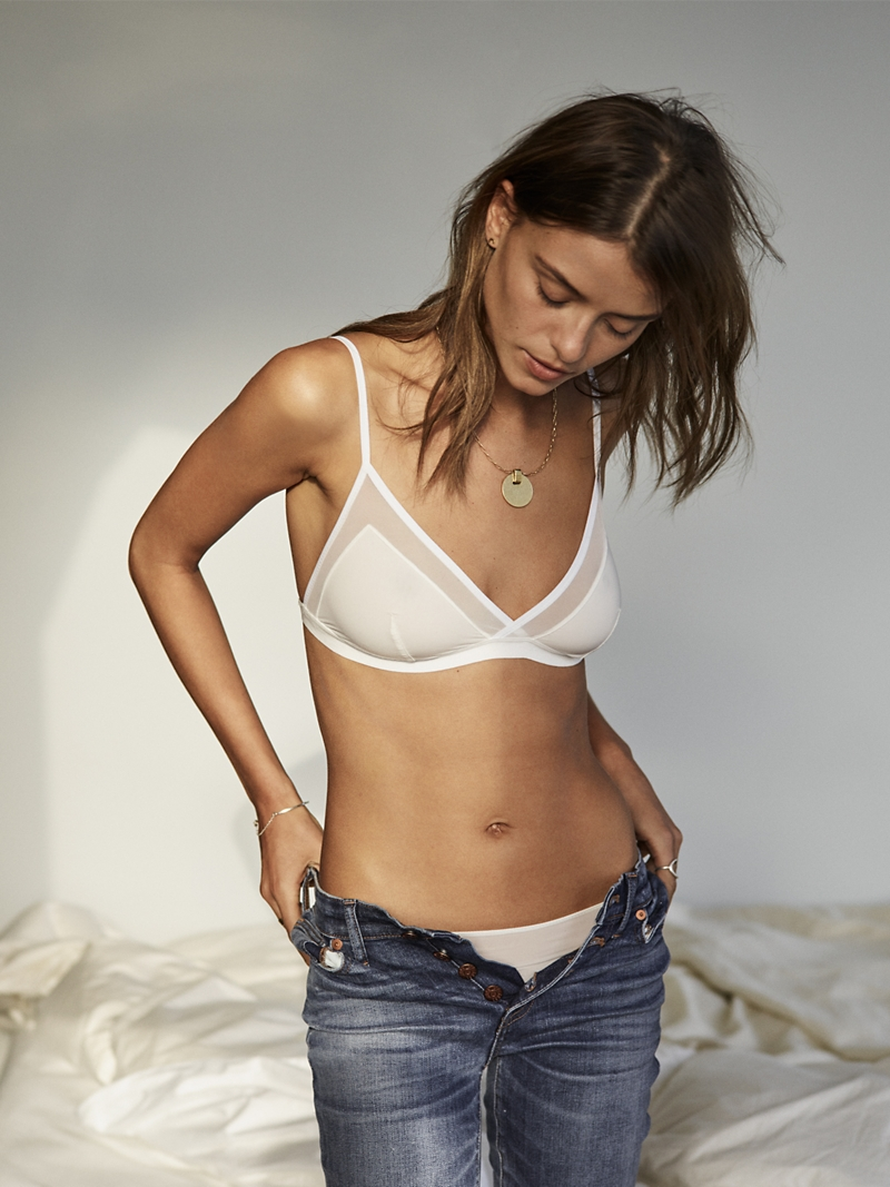 Madewell Mesh-Trimmed Michele Bralette