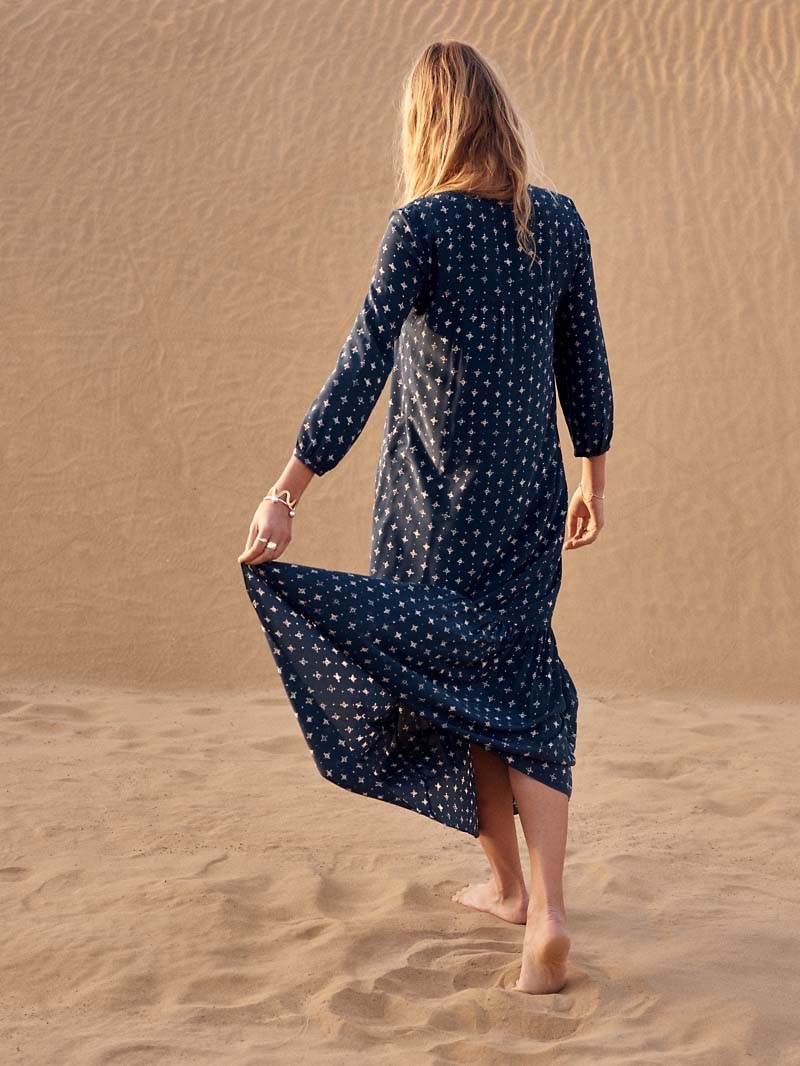 Madewell Silk Medallion Dot Maxi Dress