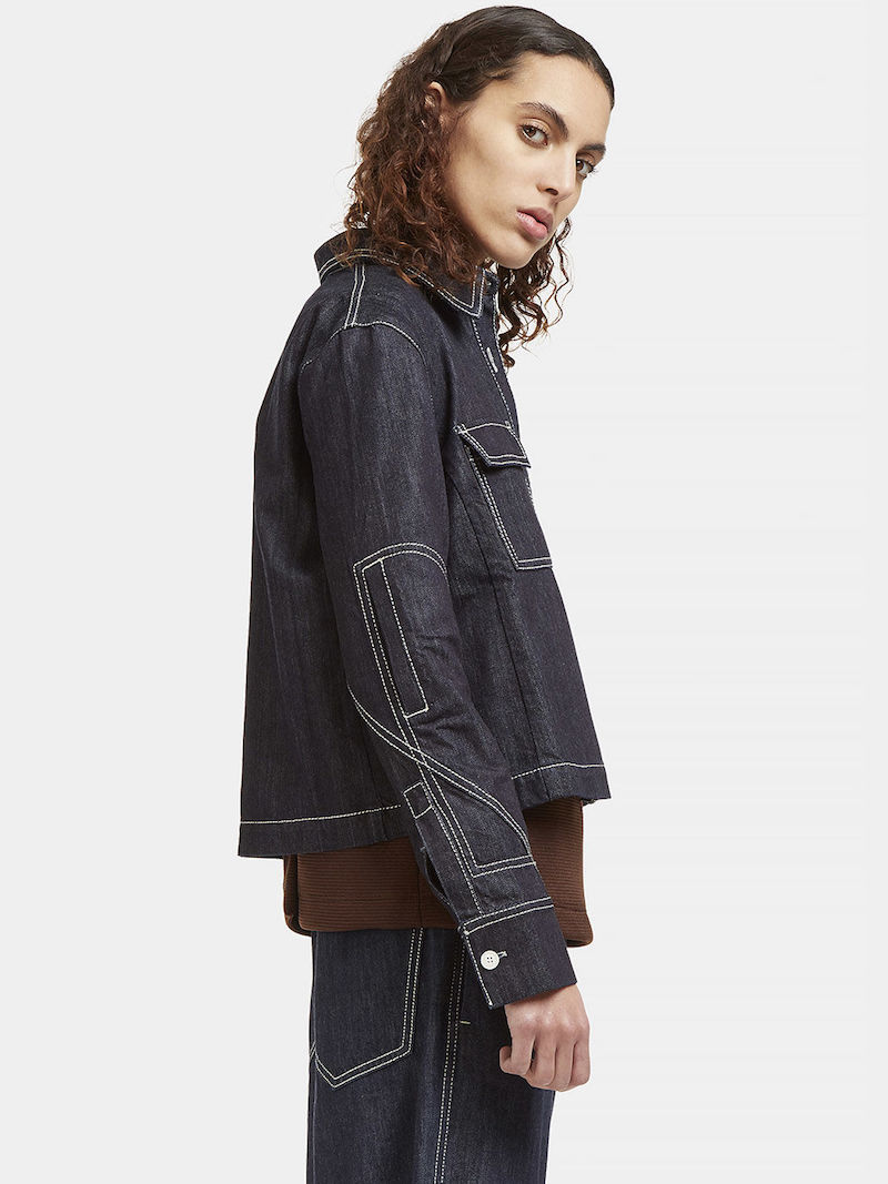 Marni Contrast Stitched Denim Jacket