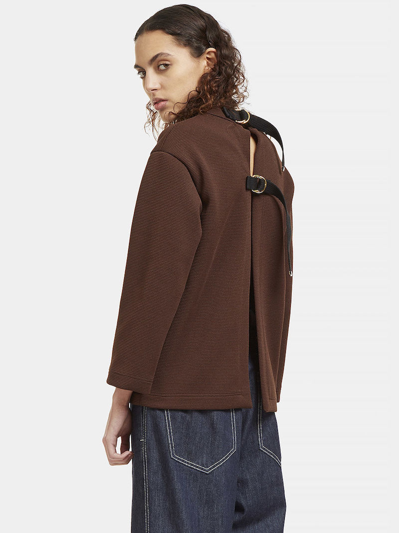 Marni Oversized Crimplene Open Back Sweater