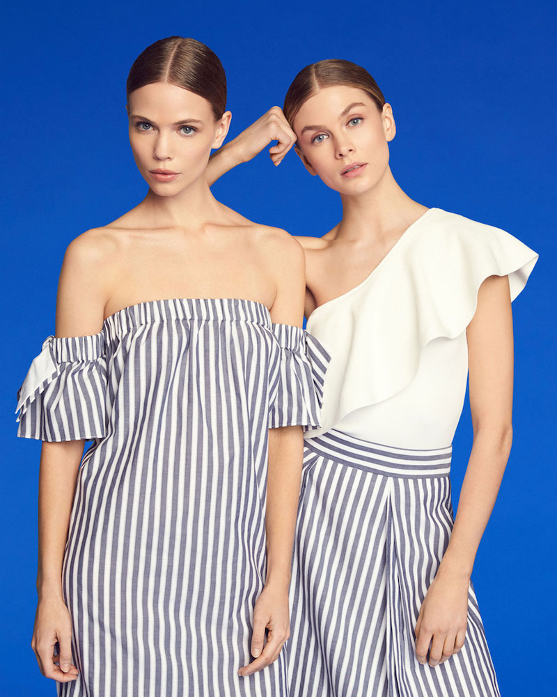 Milly Off-the-Shoulder Striped Poplin Shirtdress