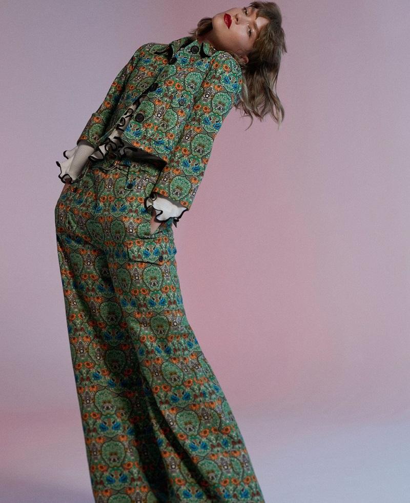 Miu Miu Agra-print denim jacket
