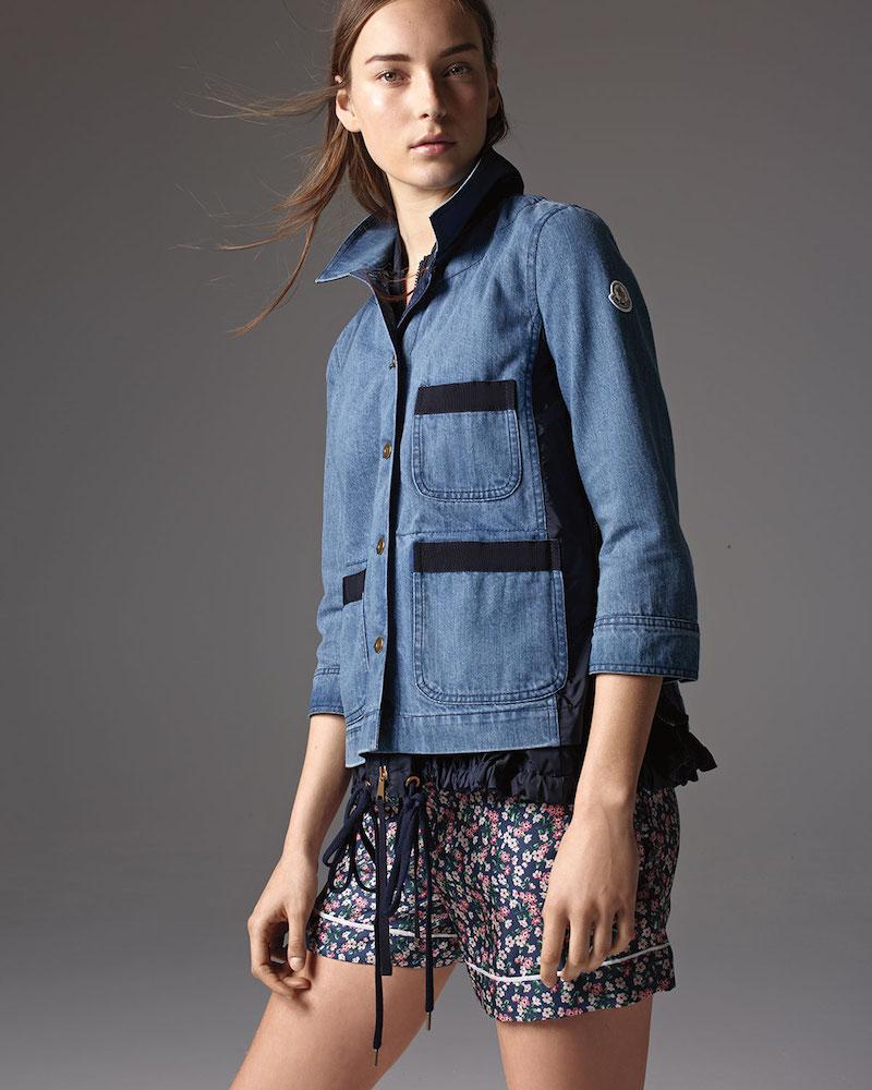 Moncler Hous Drawstring Chambray Jacket