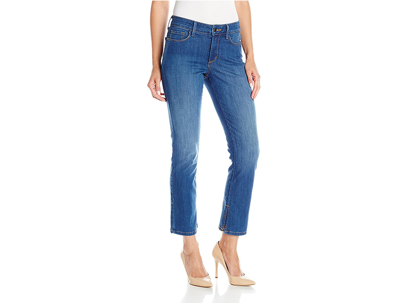 NYDJ Ira Relaxed Ankle Jeans with Inseam Slit