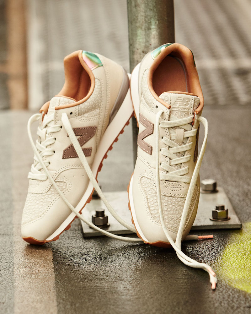 New Balance 696 Leather & Jacquard Sneaker