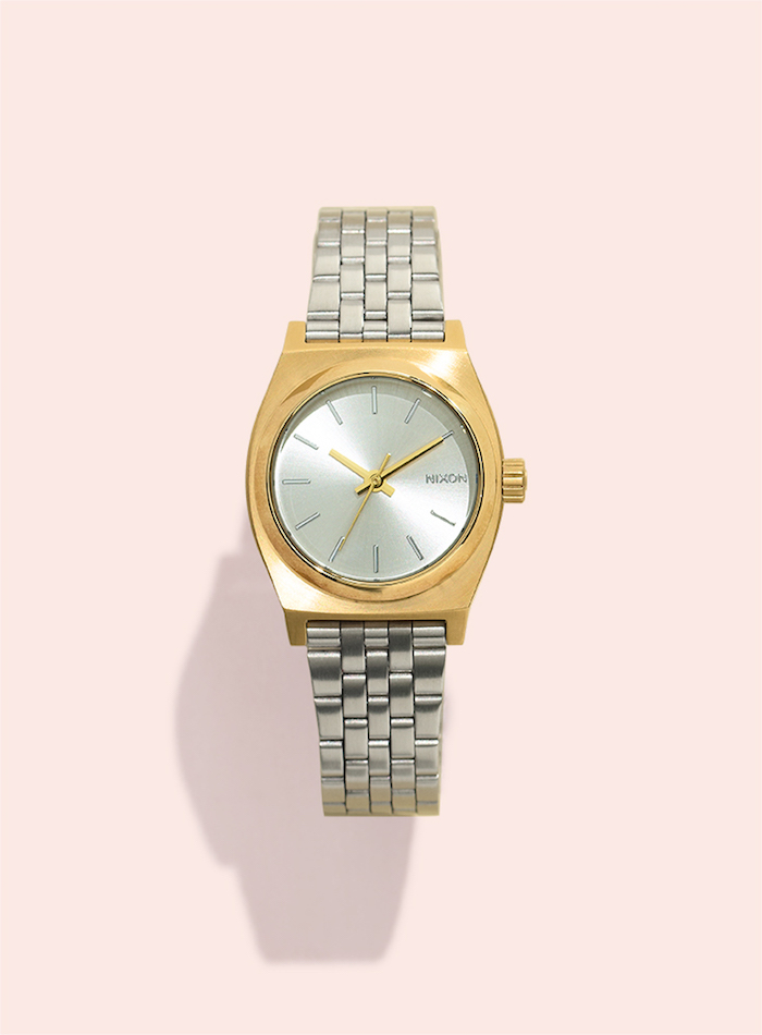 Nixon A3992062 Small Time Teller Two-Tone Stainless Steel Watch
