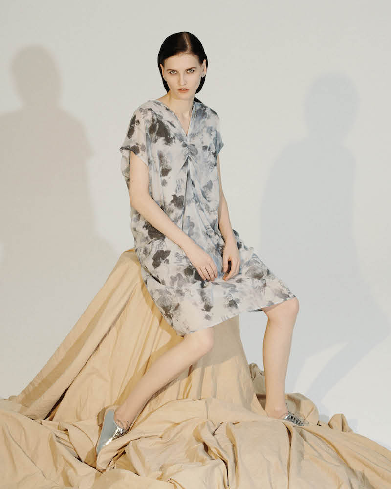 Pas de Calais Frayed-Ruffle T-Shirt Dress