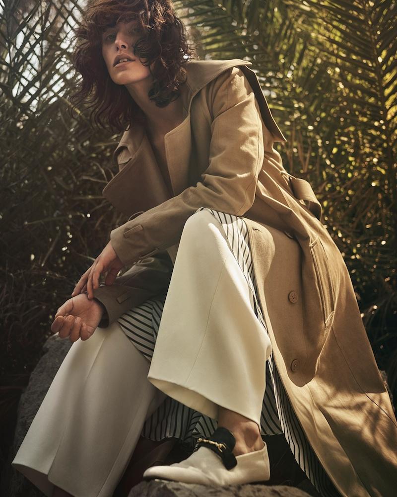 Preen Line Drita Cotton-Twill Trench Coat