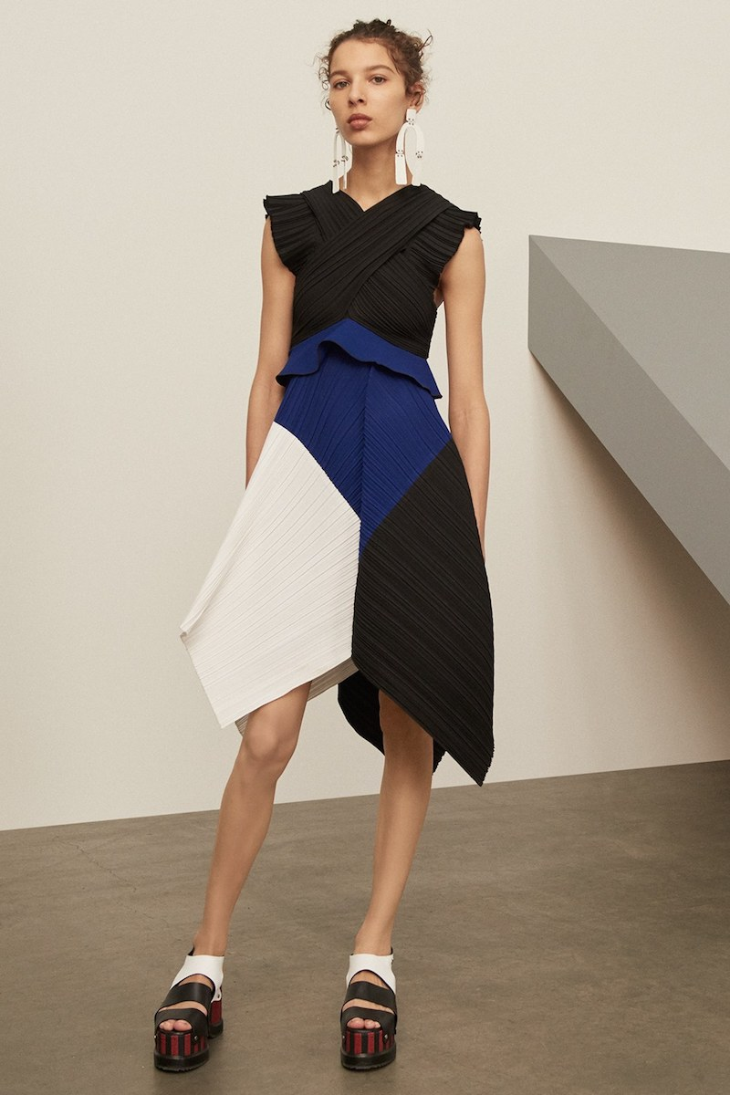 Proenza Schouler Pleated Crepe Dress