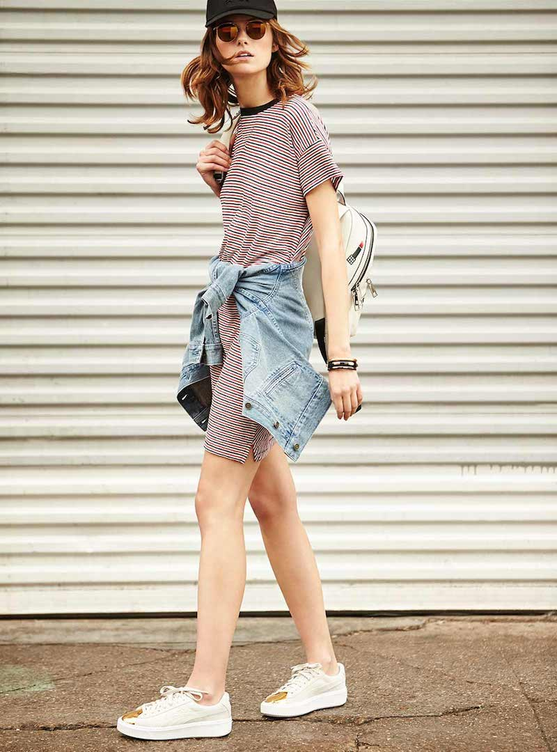 Rag & Bone Racer Stripe T-Shirt Dress