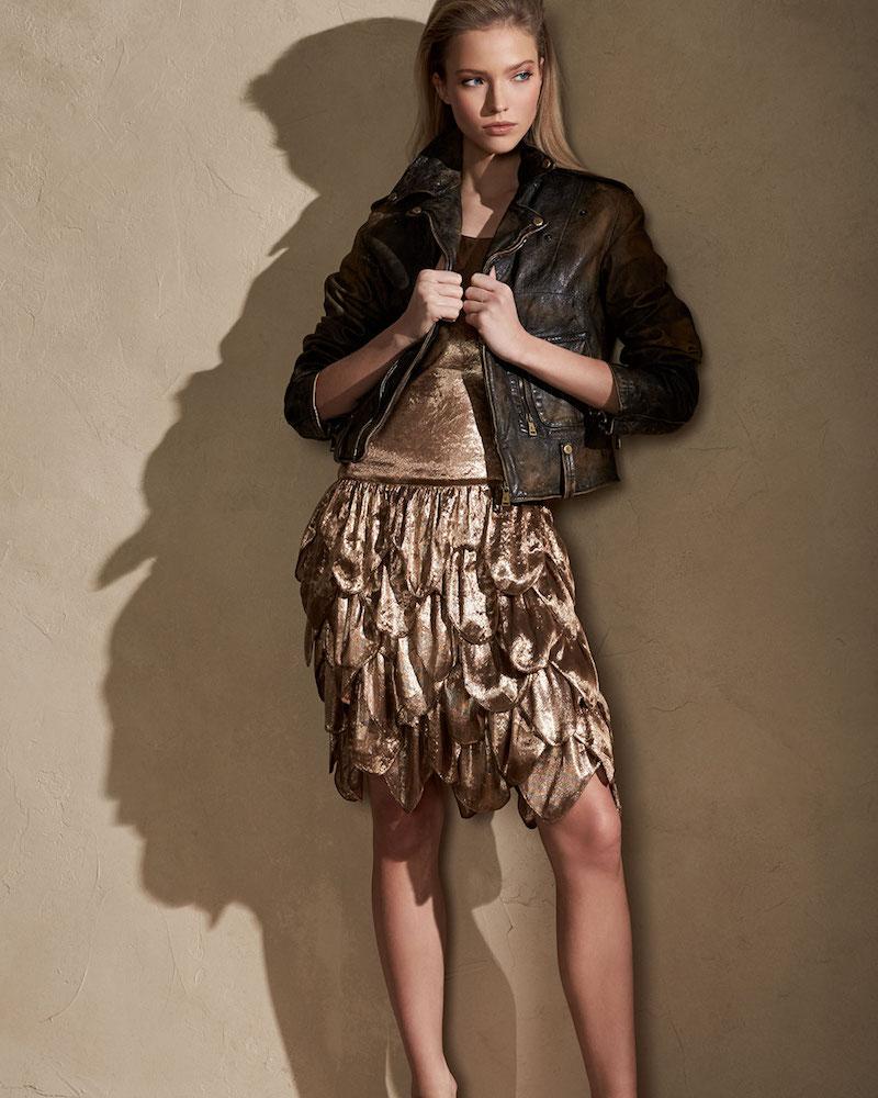Ralph Lauren Collection Dara Tiered Sleeveless Dress