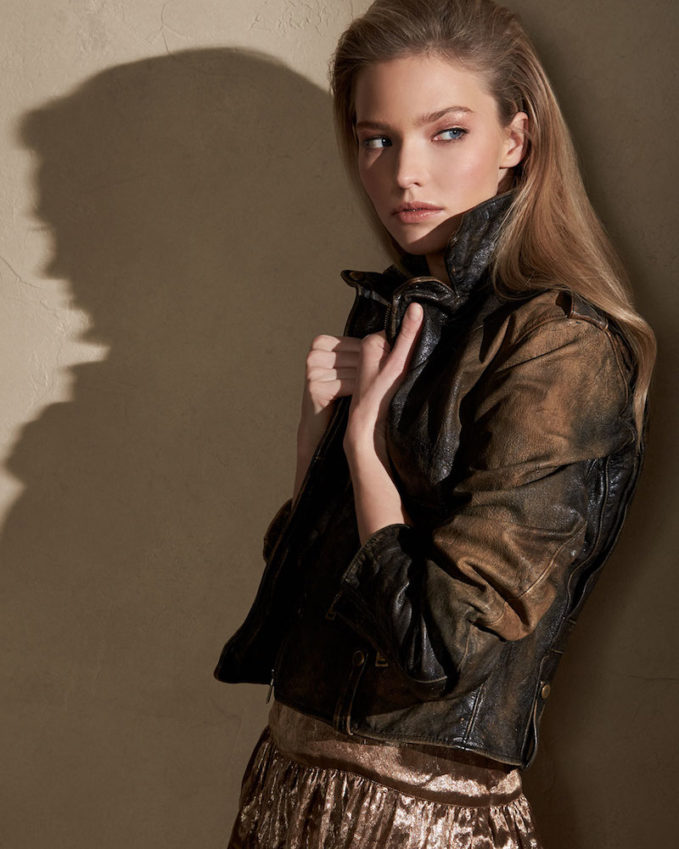 Ralph Lauren Collection Dwight Distressed Leather Jacket