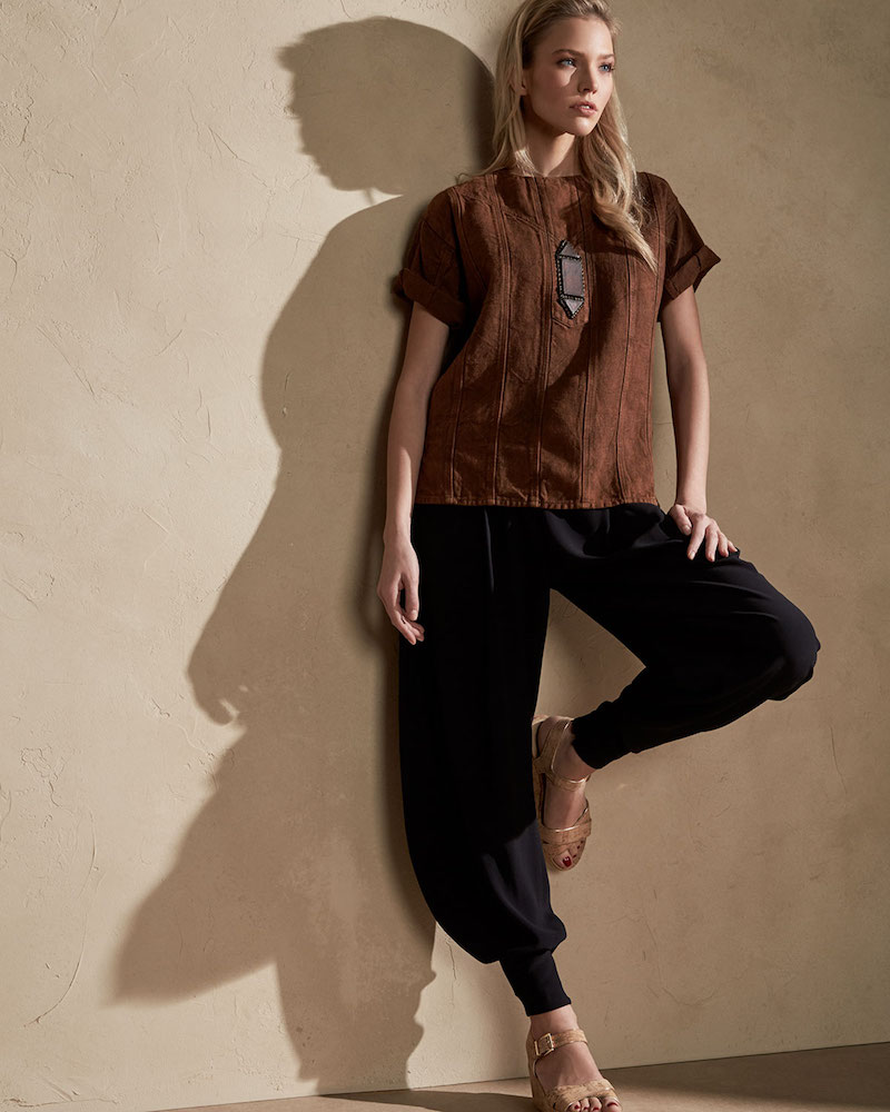 Ralph Lauren Collection Sahara Heavy Linen Tee