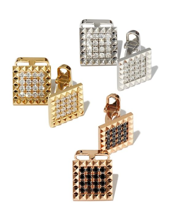Roberto Coin Square Diamond Cufflinks